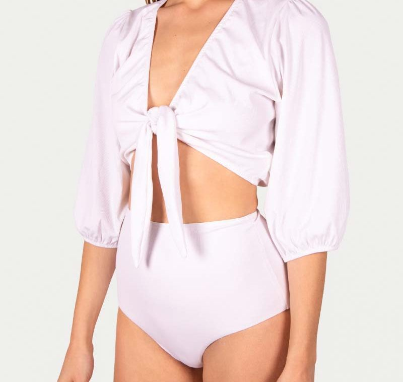 Sicilian Sunday witte bikini set crop top
