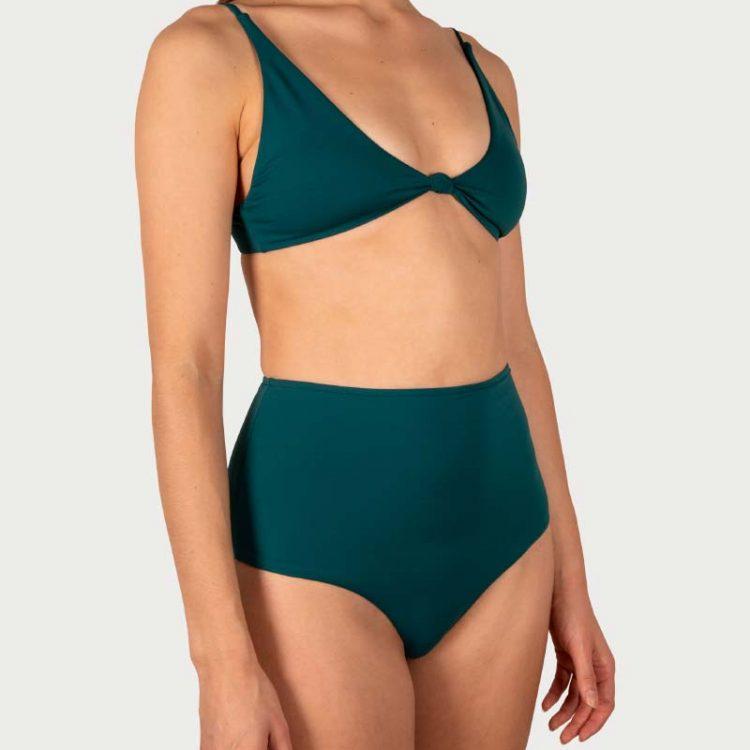 Sicilian Sunday bikini set donkergroen hoge taille broekje