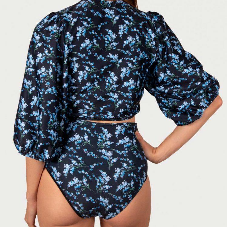 Sicilian Sunday bikini set Bloemenprint hoge taille broekje