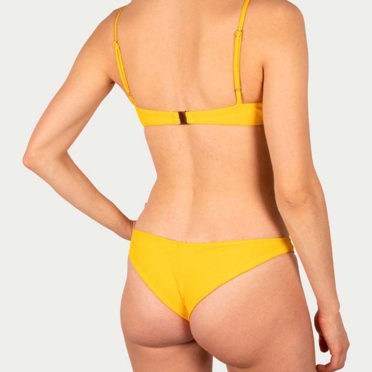 Sicilian Sunday bikini set geel brazilian broekje