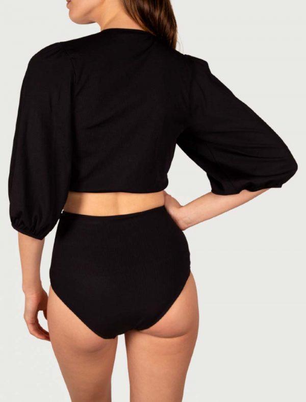 Sicilian Sunday zwarte bikini set crop top